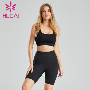 Sling Halter Sports Bra And Cycling Shorts Wholesale