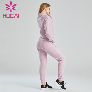 Ladies Loose Sweater And Sweatpants Suit Customization