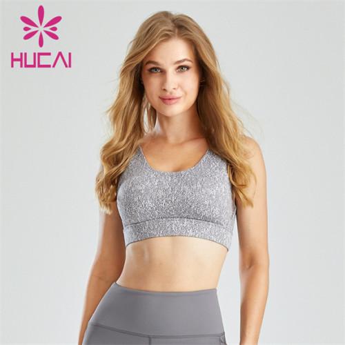 Gym Ladies Grey Backless Sports Bra Wholesale