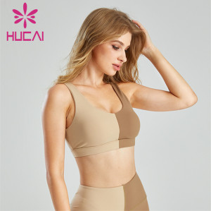 Fashion Left And Right Color Matching Sports Bra Custom Supplier