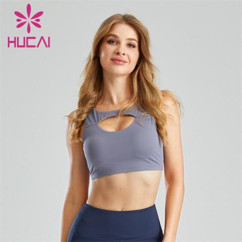 Sexy Hollow Halter Sports Bra Custom Supplier