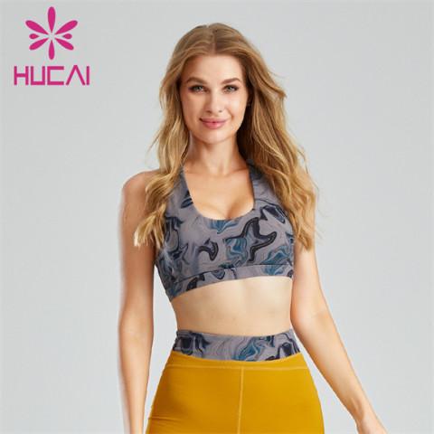 Fashion Digital Printing Halter Sports Bra Customization
