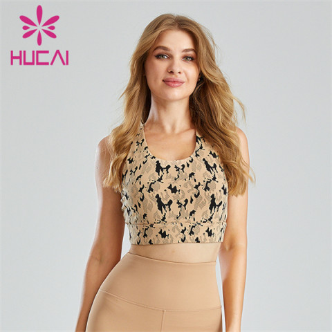 Fashion Camouflage Print Sports Bra Customization