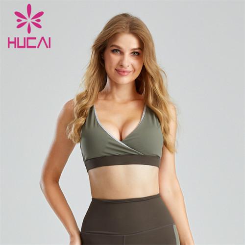 Sexy V-neck Cross Design Sports Bra Customization