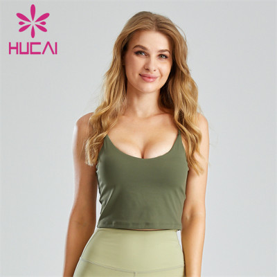 Sexy Cyan U-neck Open Back Sports Bra Wholesale