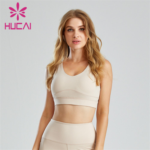 Simple Solid Color Open Back Shockproof Sports Bra Wholesale