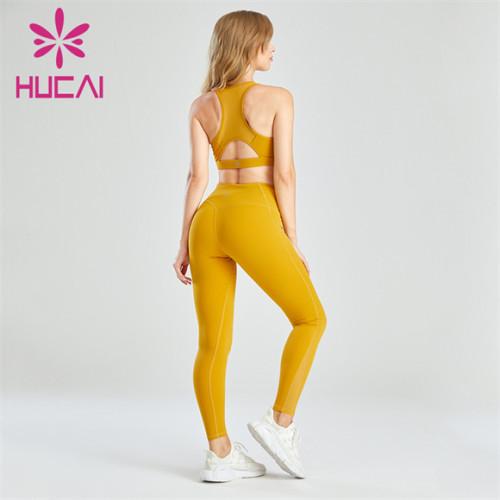 Orange Yellow Yoga Sports Suit Custom Wholesale