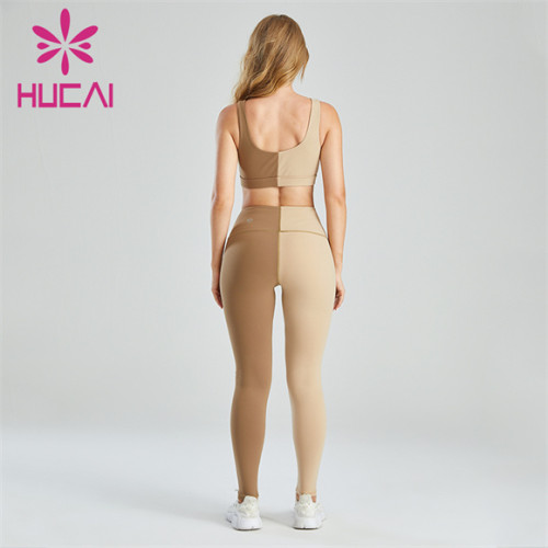 Ladies Fashion And Novel Splicing Sports Suit Customization