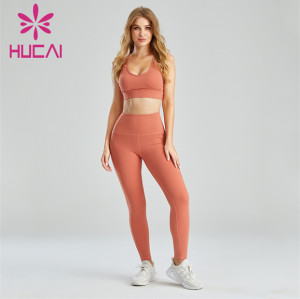 Ladies Sexy Pink Fitness Sports Suit Customization