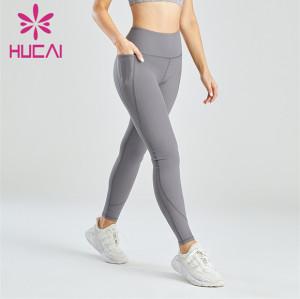 Women's Gray Skinny Hip-hip Leggings Customization