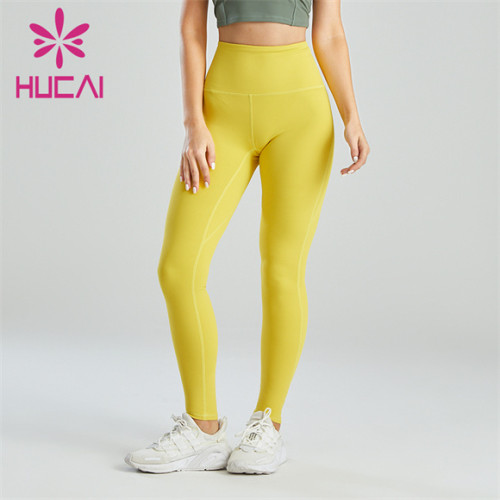 Gym Yellow Ladies Sports Leggings Wholesale