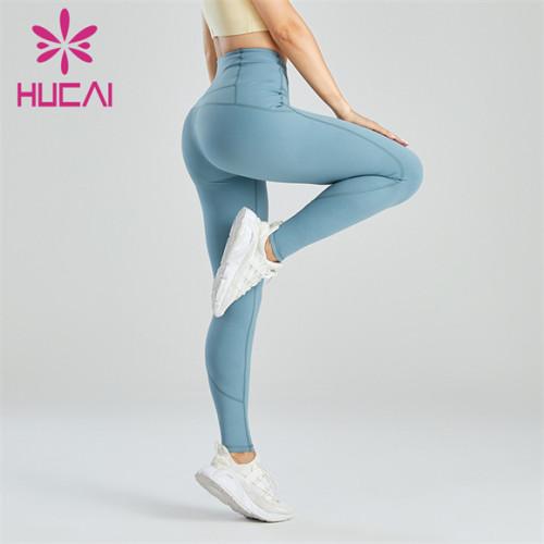 Ladies Light Blue Slim Fit Leggings Wholesale