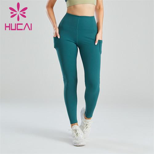 Women's Dark Blue Leggings With Pockets Wholesale