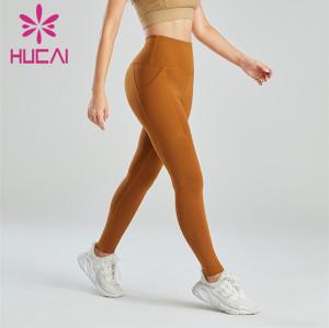 Women's Dark Yellow Slim Fit Leggings Wholesale