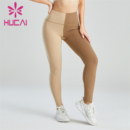 Ladies Fashion And Novel Two-color Stitching Leggings Customization