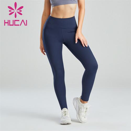 Gym Ladies Dark Blue Slim Fit Leggings Wholesale