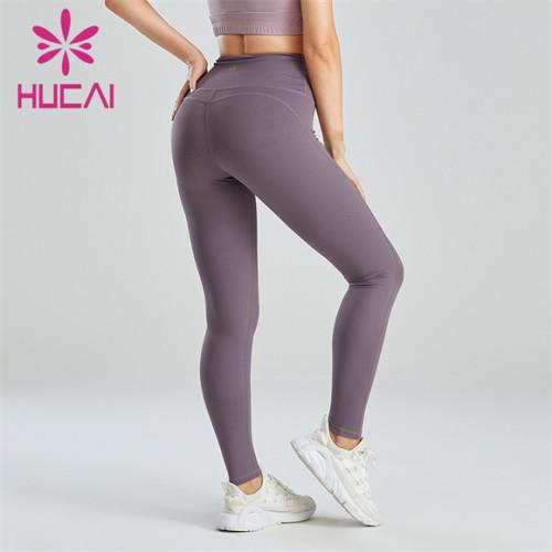 Ladies Gray Simple Slim Leggings Wholesale