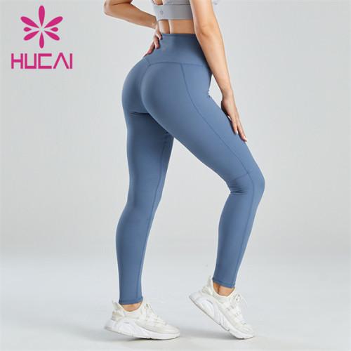 Ladies Blue Slim Yoga Leggings Wholesale