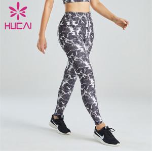 Ladies Fashion and Novel Wave Print Leggings Customization
