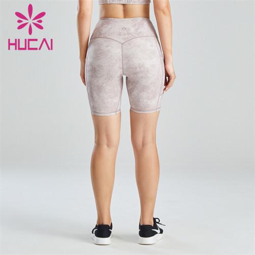 Ladies High Waist Printed Cycling Shorts Custom