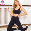 Sexy  Tie-Knot Workout Clothes Two-Piece Private Label Yoga Wear