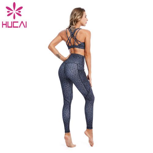 Yoga Wear Wholesale Leopard Print Fitness Clothes For Women