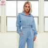 Women Jogger Suits Wholesale Comfort Thick Thermal Running Sweatpants and Tops Set