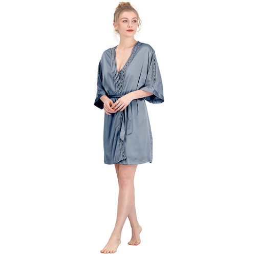 Mid-length Robe Bathrobes Wholesale Women's Bathrobes China Manufacturer HSZ