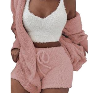 Flannel Pajama Shorts,Adult Sleepwear In Summer Sets,Multi-piece of Pajamas Ladies,Factory Wholesale Pyjamas Of Ladies