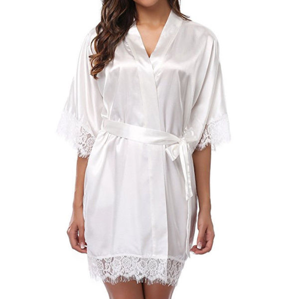 Short Sleeve Robe Wholesale Lace Of Female In Summer Spring