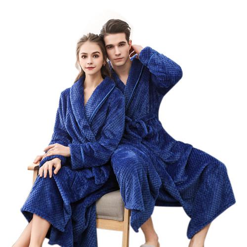 رداء حمام للسيدات زوجين ملابس نوم للكبار في رداء شتوي طويل من البوليستر