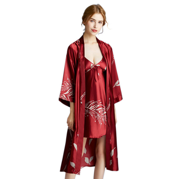 Night Dress Supplier,Night Dress Set for Ladies,2 Piece Nightwear,Ladies Silk Pyjamas