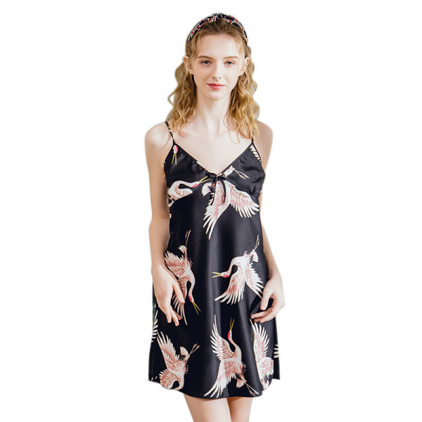 Wholesale Women's Sleepwear,Silk Nightgown Suspender Skirt,Pretty Lace For Adult Women,Fashion Sleepwear Wholesale