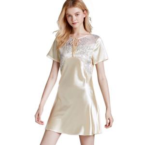 Ночная рубашка с круглым вырезом, удобная для взрослых женщин, модная одежда для сна
