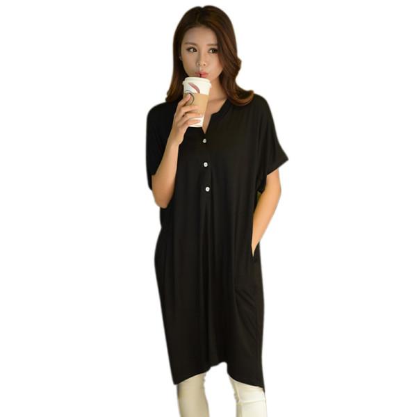 ملابس نوم صيفية للنساء ملابس نوم عصرية للكبار قمصان نوم مريحة للبيع بالجملة بأكمام قصيرة