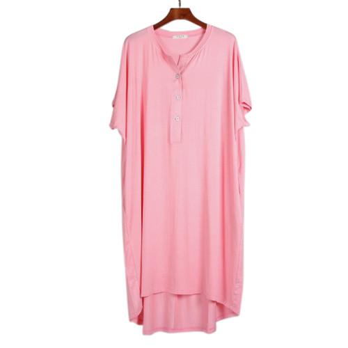 Летняя ночная рубашка женская модная пижама для взрослых оптом удобные ночные рубашки с коротким рукавом