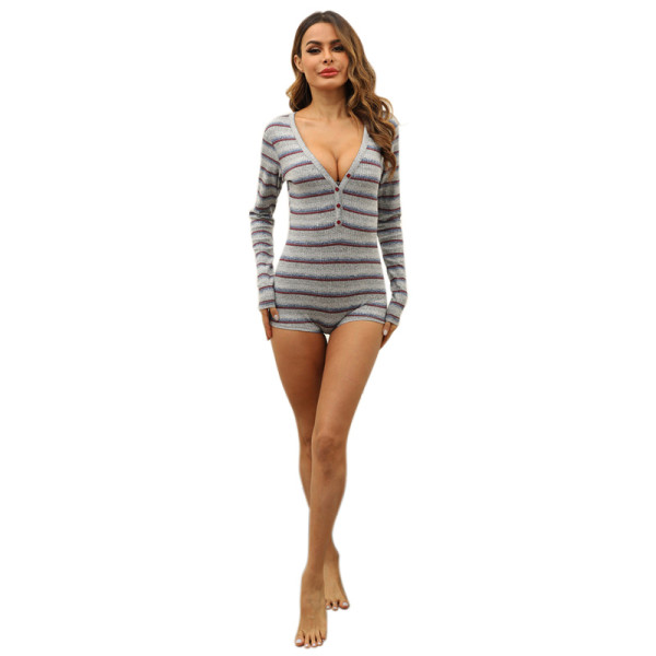 Onesie Jumpsuit for Adults,Lace Long Sleeve,Onesie V Neck Pajama Sets,Wholesale One Piece Bodysuit Bodycon Romper