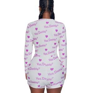 Onesies طويلة الأكمام OEM و ODM نعم DADDY مطبوعة ارتداءها النساء الراحة الكبار رائجة البيع حجم كبير