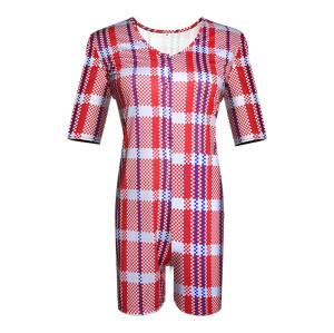 بذلة للبالغين رومبير ملابس نوم للسيدات ملابس نوم على الطراز الصيني سراويل قصيرة الأكمام ضيقة