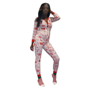 Wholesale Women's Jumpsuit Onesies Long Sleeve and Pants for Adult Female Fashion Lady Clothes Wear Hot Sale Print