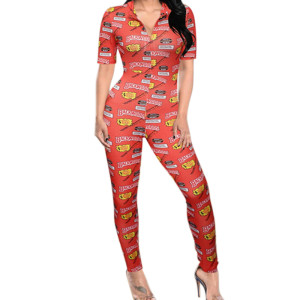 Plus Size Bodysuit,Rompers Printing for Ladies,One-piece at Home wear,Women Pretty Jumpsuit Factory Price