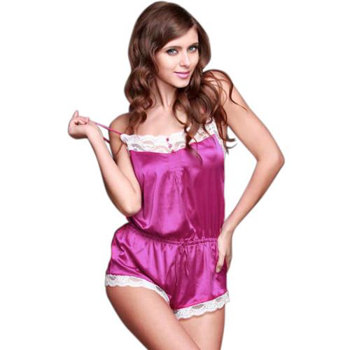 ارتداءها بلا أكمام للنساء أعلى الملابس الداخلية الدانتيل ملابس النوم قطعة واحدة جميلة