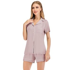 بيجامة ساتان مجموعة ملابس منزلية للسيدات ملابس سببية بالجملة