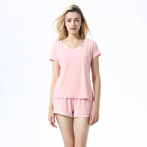 Ladies Silk Pyjama Sets,Satin Pajama Set,Wholesale Women Short in Summer,Pieces Wear Loose Clothing