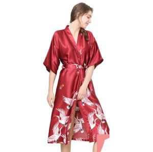 أردية حمام بأكمام قصيرة مطبوعة ملابس منزلية بيجاما ملابس جميلة للإناث