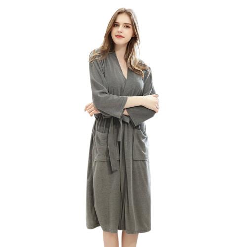 رداء حمام متوسط الطول بالجملة منامة لملابس النوم الفضفاضة للسيدات