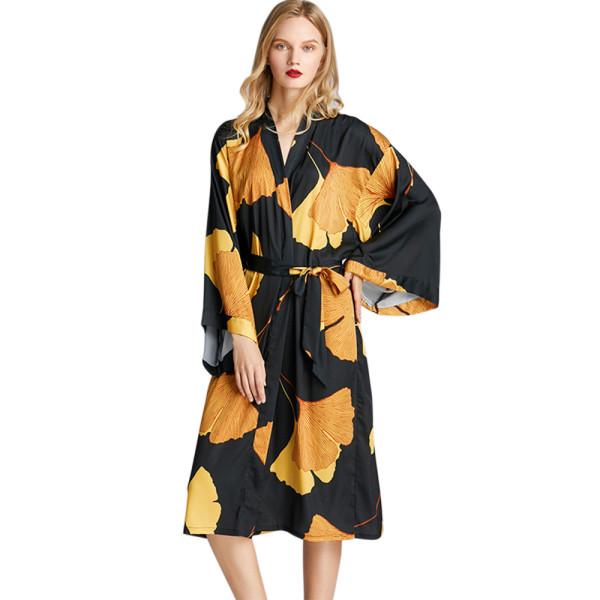 Оптовый халат с длинным рукавом для женщин Новое поступление Элегантная комфортная одежда для сна