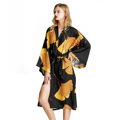 الجملة رداء طويل الأكمام للنساء وصول جديد ملابس نوم مريحة أنيقة