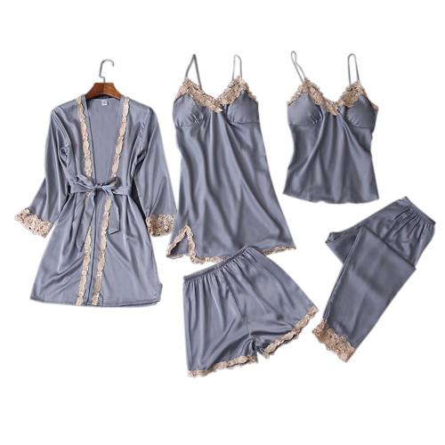 ملابس نوم نسائية ، تصميم غير رسمي مخصص ، قطعة متعددة من البيجامات