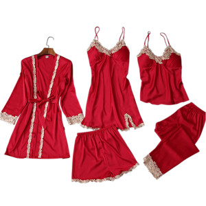Lingerie Sleepwear Lace,Pajamas Wholesale Piece Sets,Female Sleepwear Custom Design,Pretty Wholesale Multi-piece of Pajamas